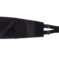 Pleated silk cummerbund with swarovski Colour: SW281_001 Size: L
