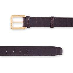 Handmade crocodile belt Colour: 8019 Size: 85
