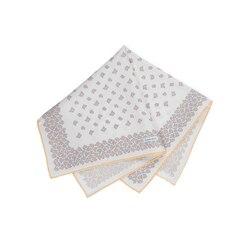 Hand printed silk handkerchief Colour: FZSR8_12D Size: One Size