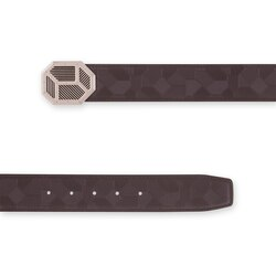 Handmade embossed calfskin belt Colour: M019 Size: 85