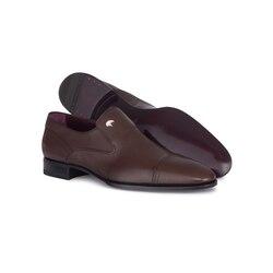 Calfskin leather dress shoe M033 Size: 7