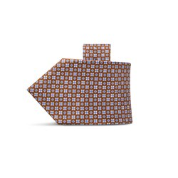Hand printed silk tie Colour: 27048_008 Size: One Size