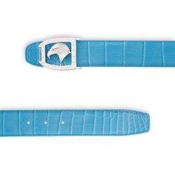 Cintura in coccodrillo fatta a mano Size: 100