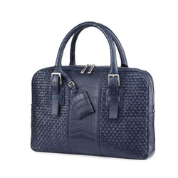 Handmade woven crocodile document bag B013 Size: One Size