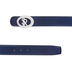 Handmade calfskin belt Colour: B049 Size: 120