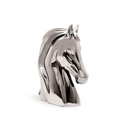 Platinum shiny large porcelain horse bust ornament Colour: 7036 Size: One Size