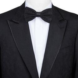 Handmade silk bow tie Colour: CMS236_001 Size: One Size