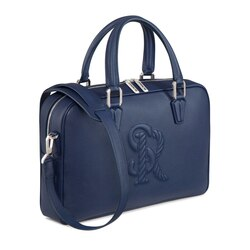 Handmade calfskin business bag B049 Size: One Size