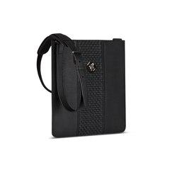Handmade calfskin messenger bag Colour: N999 Size: One Size
