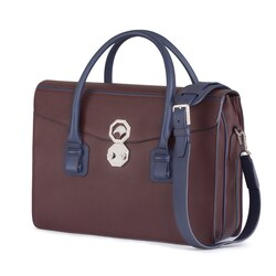 Handmade calfskin leather briefcase RB00 Size: One Size