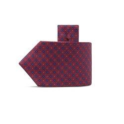 Luxury hand printed silk tie