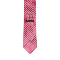 Hand printed silk tie Colour: 27025_002 Size: One Size
