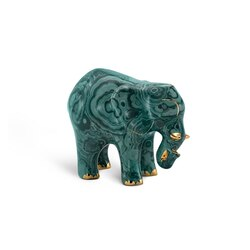 Elefante piccolo in porcellana royal malachite Colore: 6037 Taglia: One Size