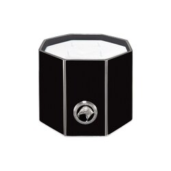 Black & platinum large octagonal scented candle Colour: 7036 Size: One Size