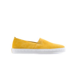 Suede and Calfskin Leather Slip On Sneaker Colour: Y020 Size: 10