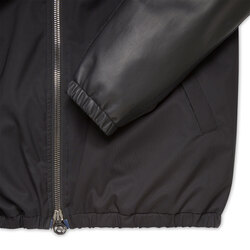 Hooded Blouson with Lambskin Leather Inserts Colour: N999 Size: 62