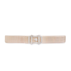 Handmade Matted Crocodile Belt Colour: M038 Size: 105