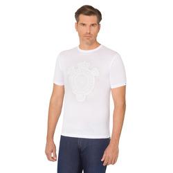 """T-shirt girocollo con motivo a """"corone"""" Colore: W000 Taglia: XL"""