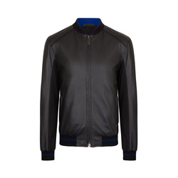 Deerskin leather blouson Colour: N999 Size: 50