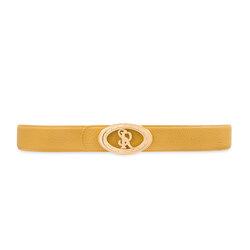 Calfskin leather belt Colour: Y020 Size: 90