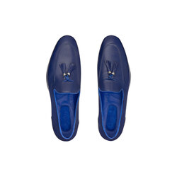 Calfskin leather tassel loafers Colour: B055 Size: 11