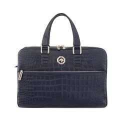 Handmade business bag in matted crocodile leather Colour: B013 Size: One Size