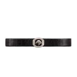Handmade Matted Crocodile Leather Belt Colour: N999 Size: 100