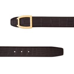 Matted Crocodile Leather Belt Colour: M019 Size: 95
