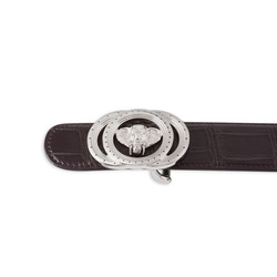 Matted Crocodile Leather Belt Colour: M019 Size: 90