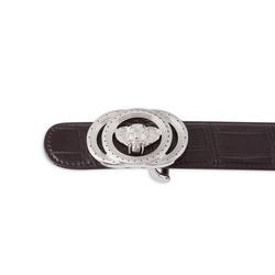 Matted Crocodile Leather Belt Colour: M019 Size: 100