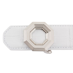 Matted Crocodile Leather Belt Colour: W007 Size: 95