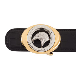 Matted Crocodile Leather Belt Colour: N999 Size: 105