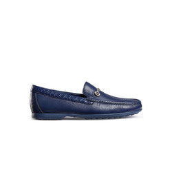 DEERSKIN AND MATTED CROCODILE LEATHER LOAFERS Colour: B062 Size: 6½