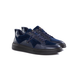 CALFSKIN, SUEDE AND CROCODILE SNEAKERS Colour: B013 Size: 9