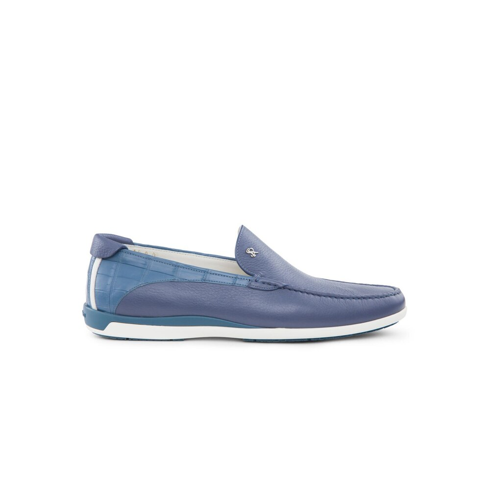 Casual deerskin and crocodile loafers Colour: B025 Size: 10½