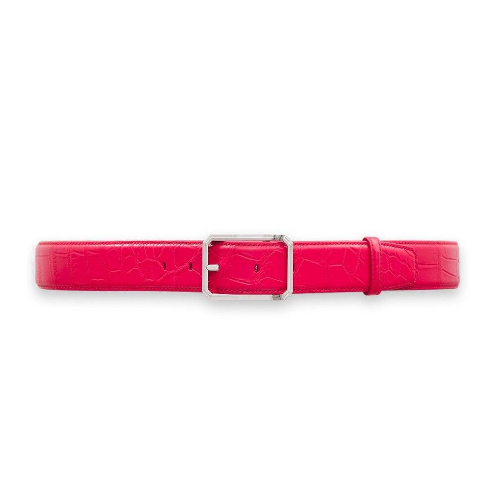 Handmade crocodile belt Colour: R013 Size: 90