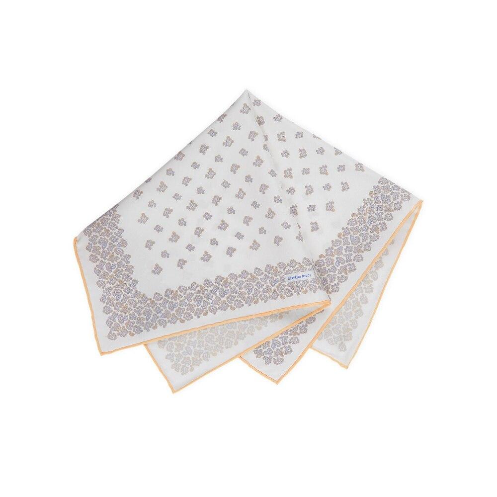 Pochette in seta stampata a mano Size: One Size