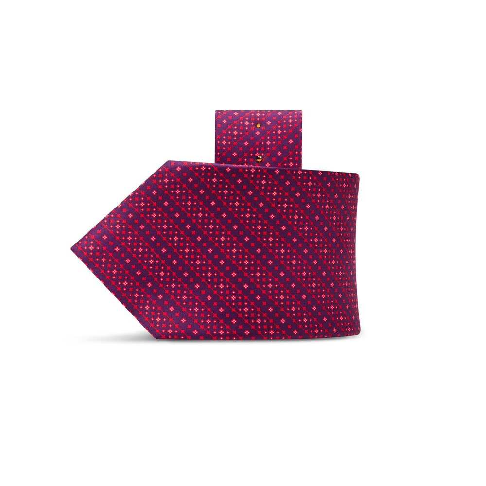 Luxury hand printed silk tie 27016_005 Size: One Size