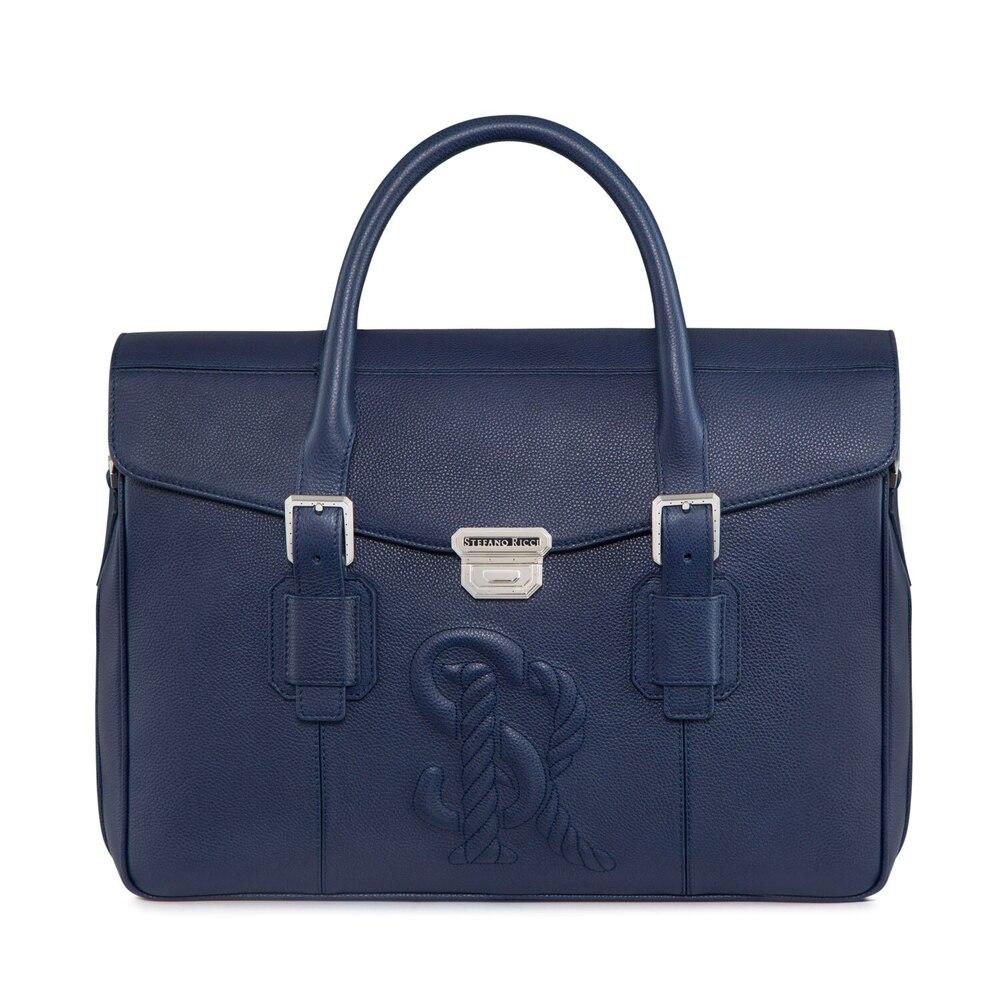 Handmade calfskin briefcase B049 Size: One Size