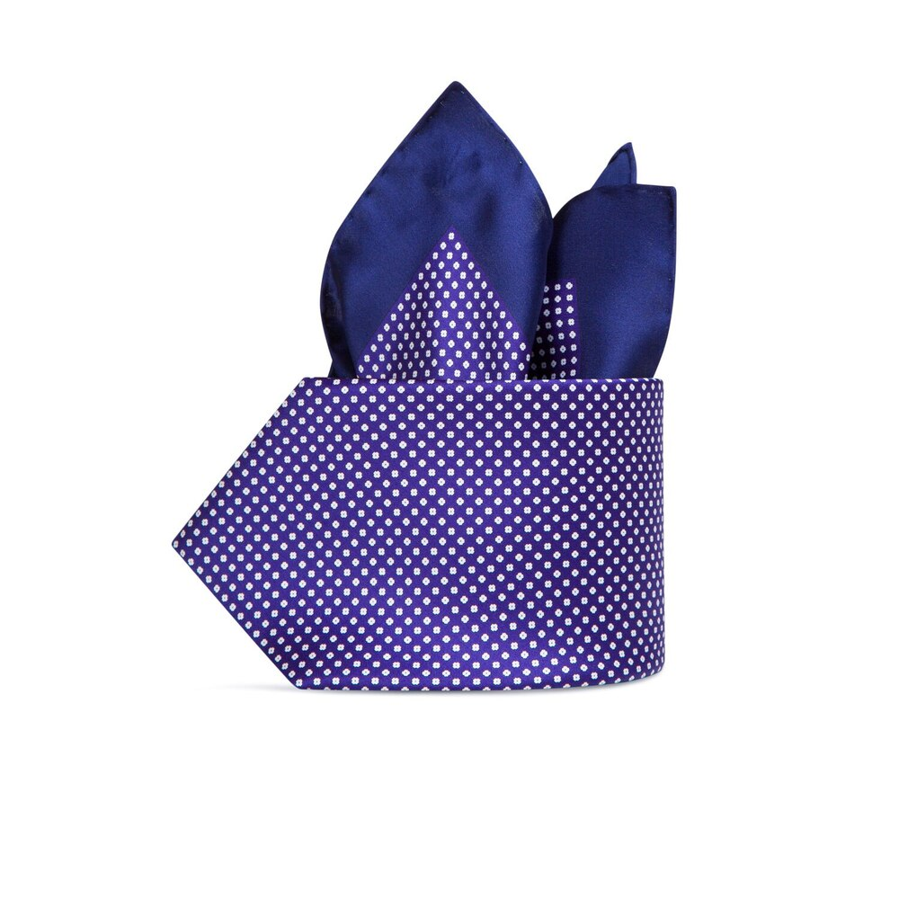 Hand printed silk tie set Colour: 23101_001 Size: One Size