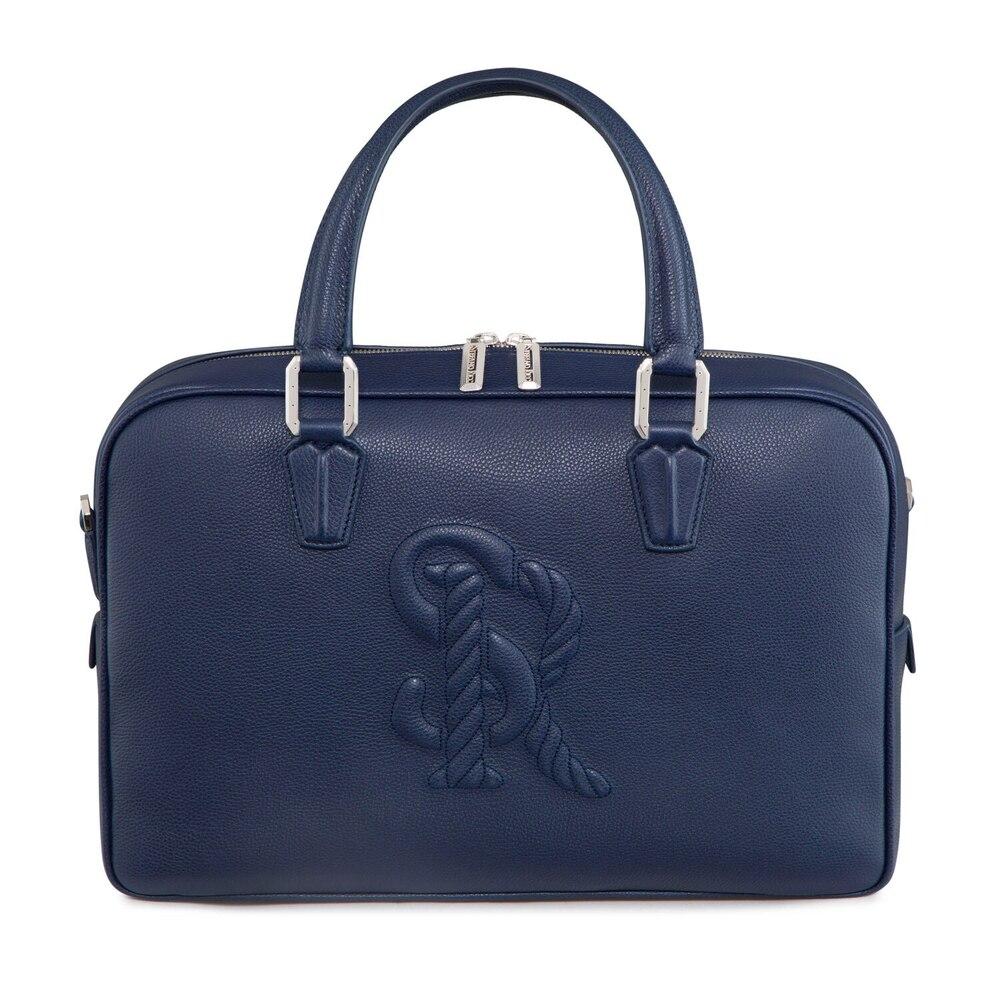 Handmade calfskin business bag Colour: B049 Size: One Size