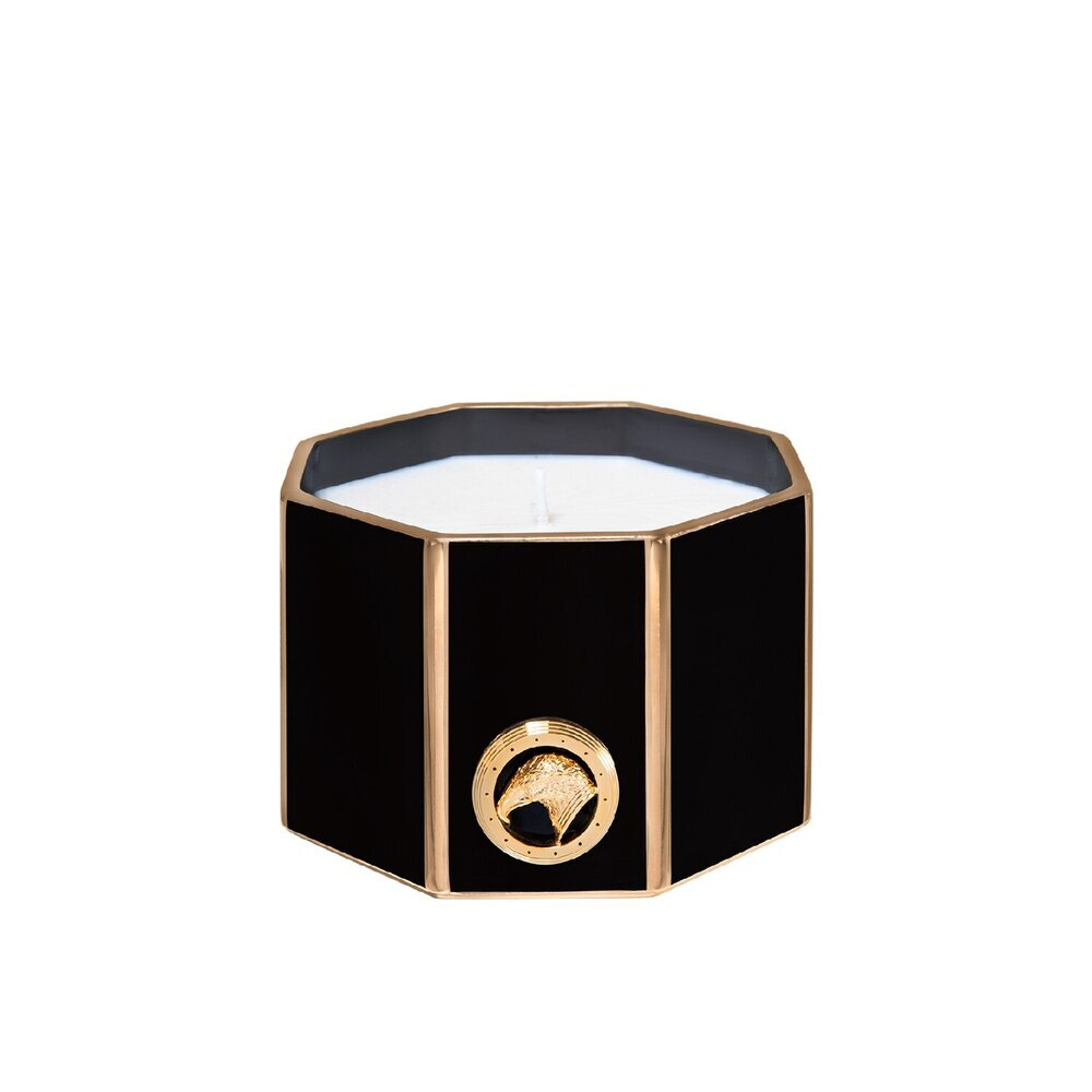 Black & gold shiny small octagonal scented candle Colour: 1036 Size: One Size