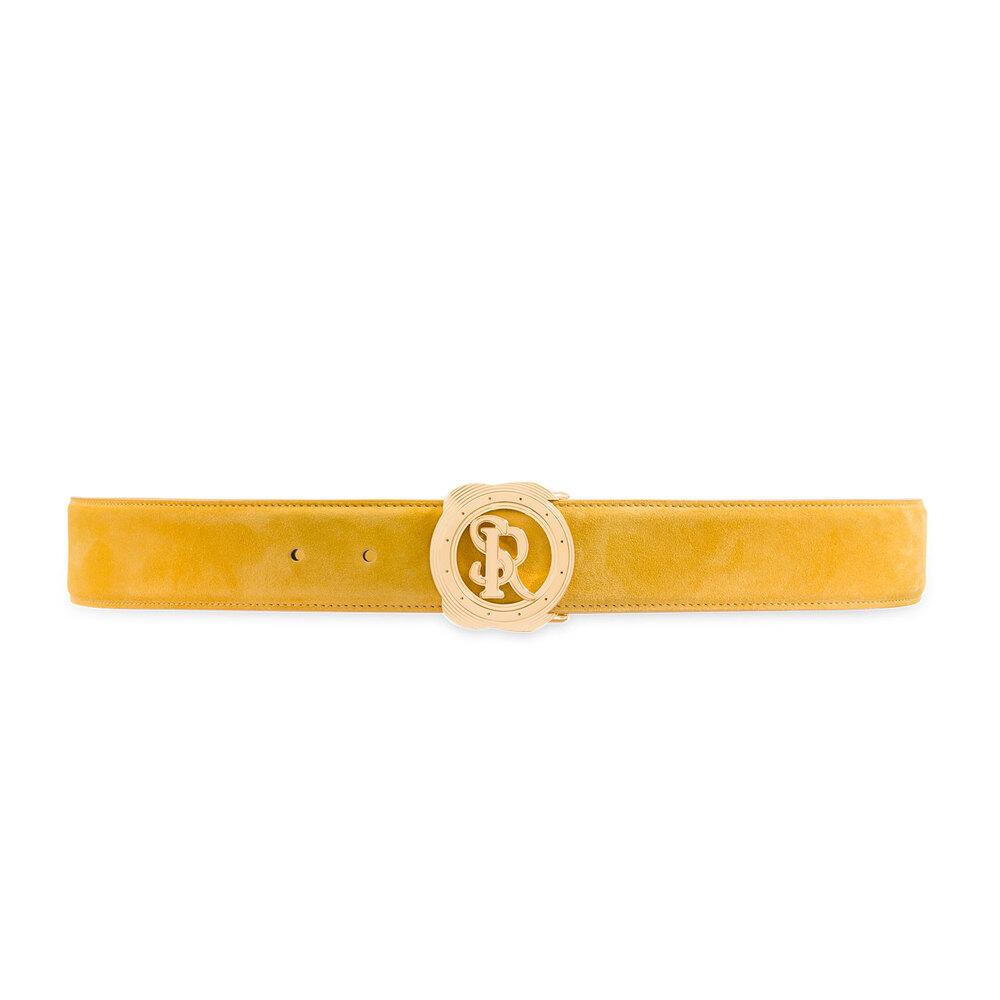 Handmade Calfskin Suede Belt Colour: Y020 Size: 105