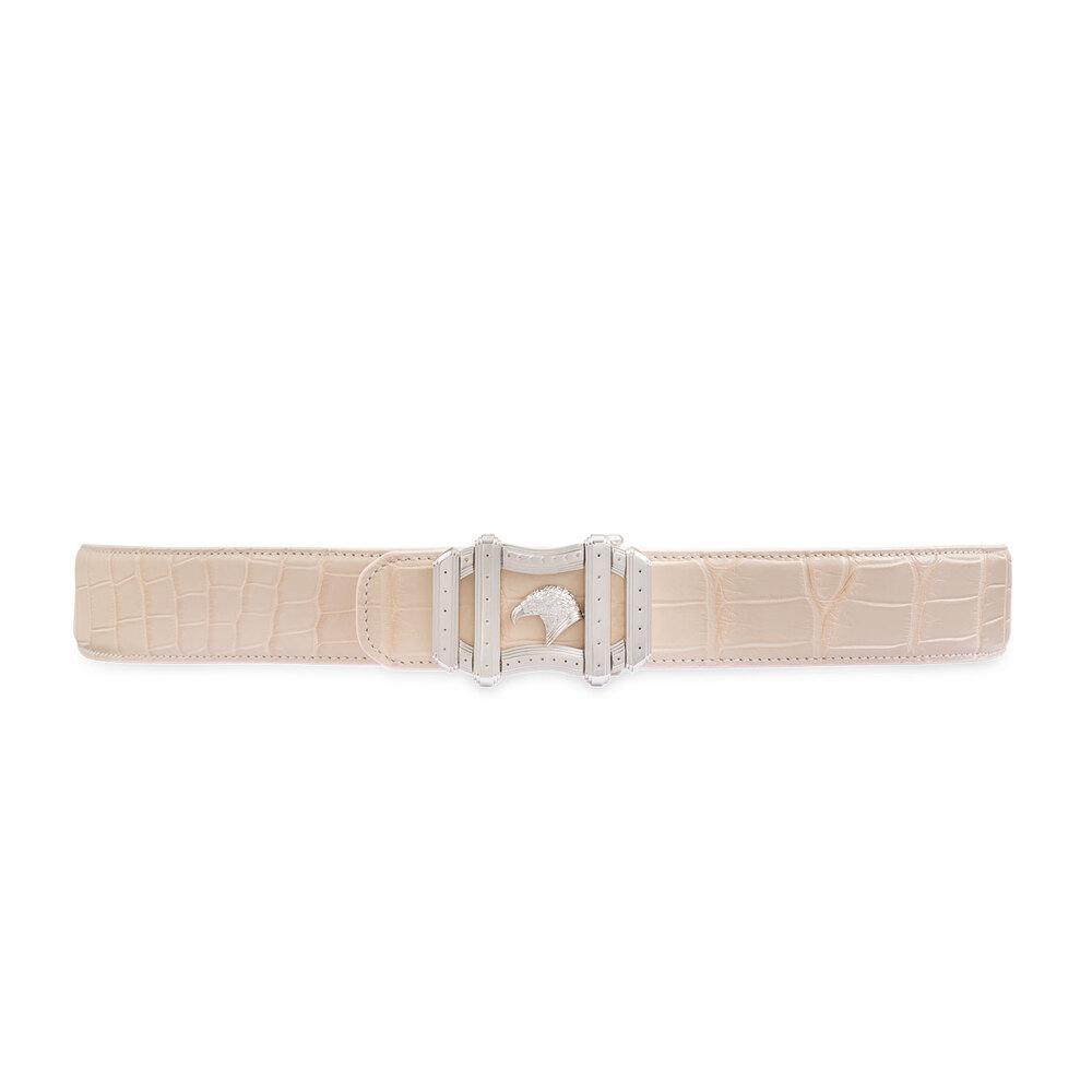 Handmade Matted Crocodile Belt Colour: M038 Size: 90