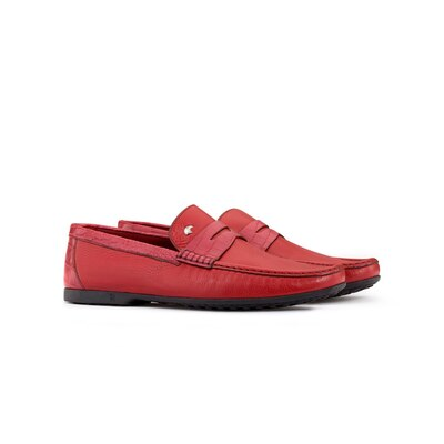 Deerskin and crocodile leather penny loafers Colour: R002 Size: 11