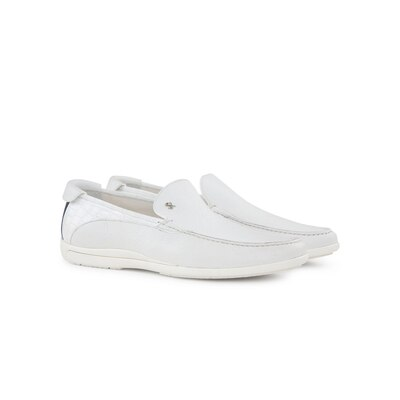 Casual deerskin and crocodile loafers W000 Size: 9½