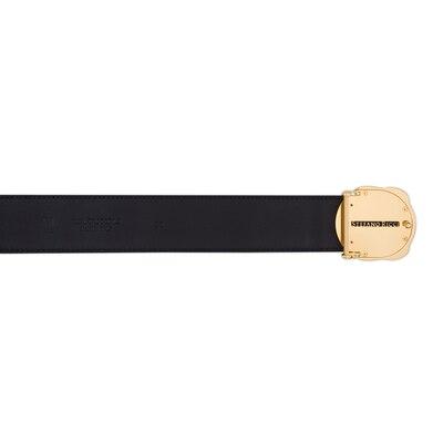 Polished crocodile leather belt Colour: N999 Size: 95