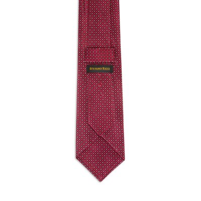 Hand printed silk tie Colour: 27042_007 Size: One Size