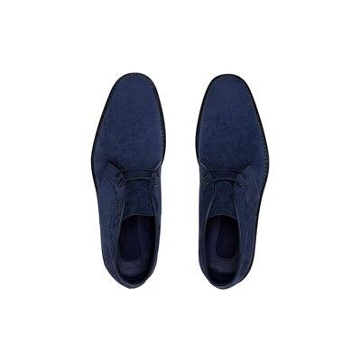 Calfskin suede chukka boots Colour: B013 Size: 8