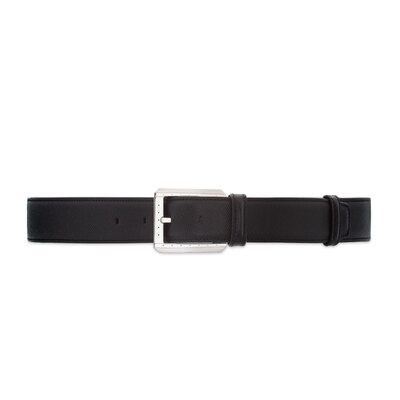 Handmade calfskin leather belt Colour: N999 Size: 85